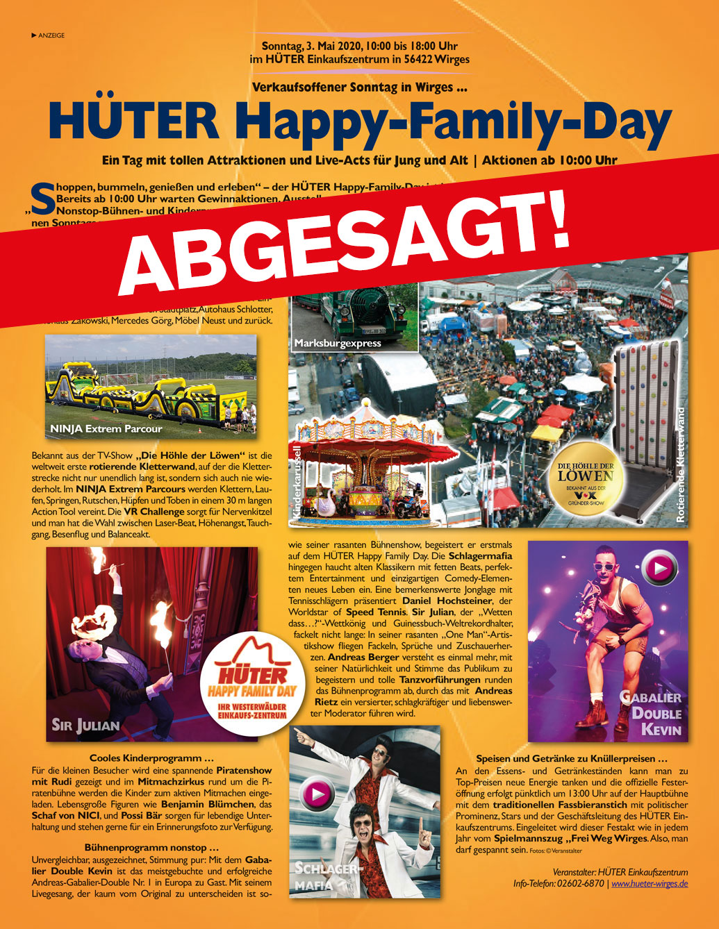 abgsagt happy family day
